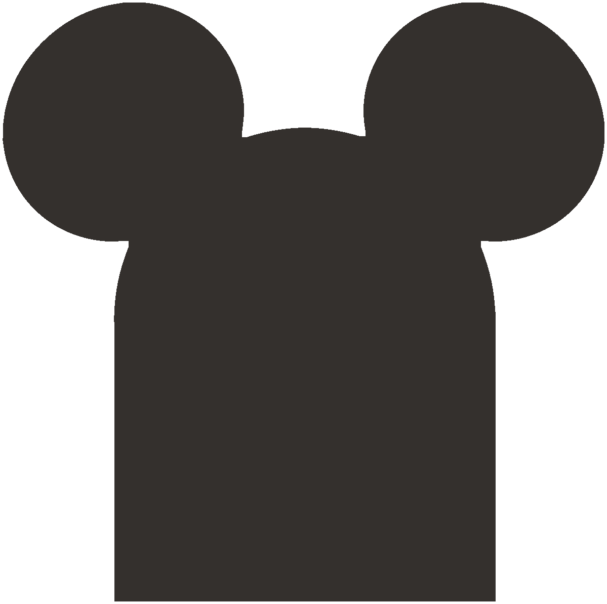 Tombstone with mouse ears.